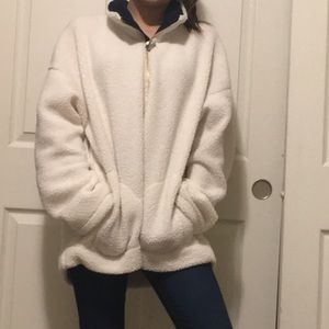 Cozy Sherpa Sweater With Pockets